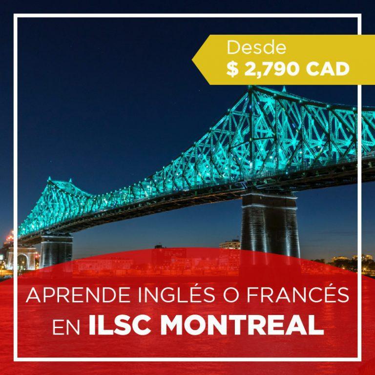 Curso de inglés o francés en Montreal Canadá
